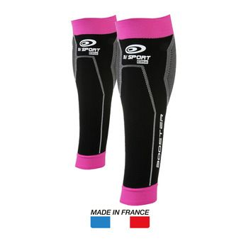 Manchons de compression BOOSTER ELITE noir/fushia