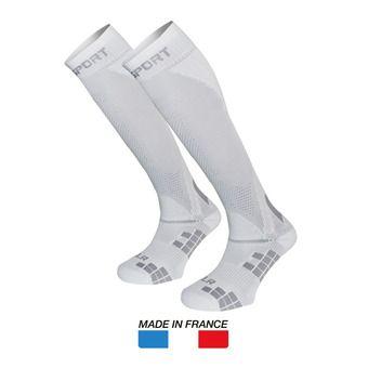 Chaussettes de compression XLR blanc/gris