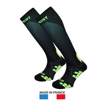 Chaussettes de compression XLR noir/vert