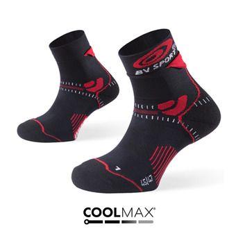 Socquettes de trail STX noir/rouge