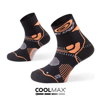 Socquettes de trail STX noir/orange