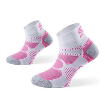 Calcetines de running mujer RSX fucsia/blanco/gris