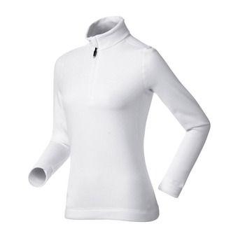 Sweat 1/2 zip femme ELM white