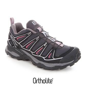 Zapatillas de senderismo mujer X-ULTRA 2 asphalt/black/hot pink