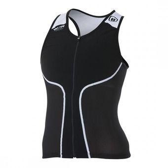 Camiseta de tirantes tritraje mujer iTOP black/white