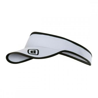 Gorra-visera RUNNING white/black