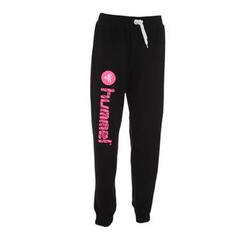 Pantalon jogging UH 2 noir/rose fluo
