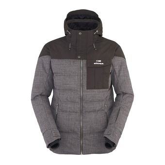 Chaqueta de esquí hombre SHIBUYA steel grey cloudy rough/after dark