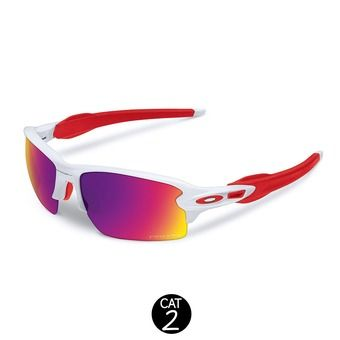 Lunettes FLAK 2.0 polished white/prizm road