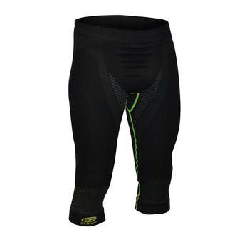 Mallas 3/4 de compresión hombre NATURE 3R negro/verde