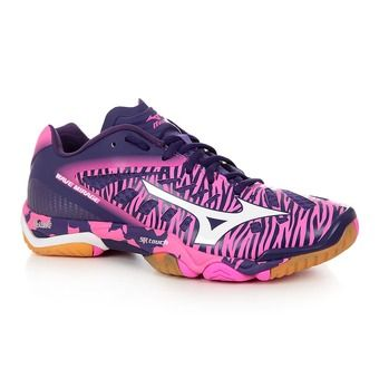 Chaussures handball femme WAVE MIRAGE electric/white/parablues