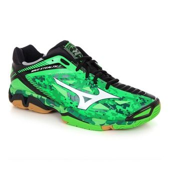 Chaussures handball homme WAVE STEALTH 3 neon green/white/black