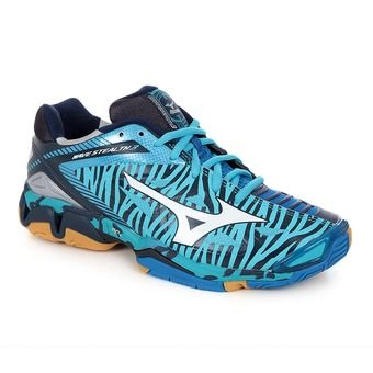 Chaussures handball femme WAVE STEALTH 3 blue atol/white/directoire blue