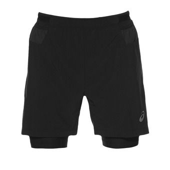 Short 2 en 1 hombre FUJITRAIL performance black
