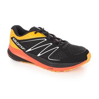 Chaussures running homme SENSE PULSE black/yellow gold/tomato red