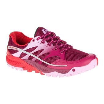 Zapatillas trail mujer ALL OUT CHARGE bright red