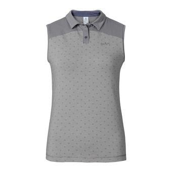 Polo sans manches femme SHIFT grey melange