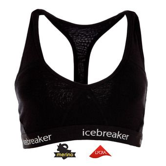 Sujetador deportivo mujer SPRITE RACERBACK black