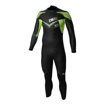 Combinaison triathlon homme 365 TRAIN black/fluo