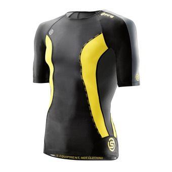 Camiseta de compresión hombre DNAMIC black/lemon