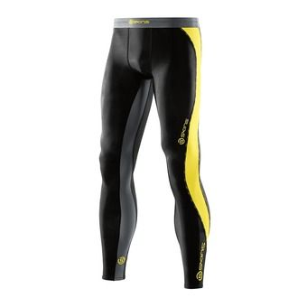 Collant de compression homme DNAMIC black/citron