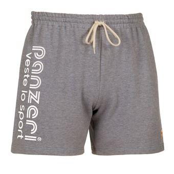 Short UNI A gris jaspeado/blanco