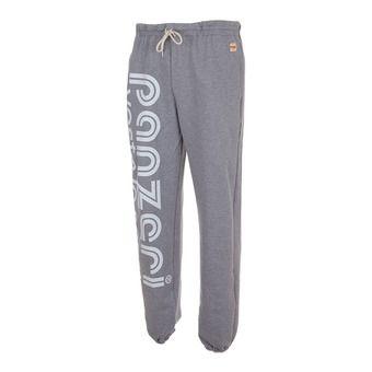 Pantalon jogging HOBBY L gris chiné/blanc
