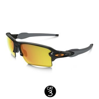 Lunettes FLAK 2.0 XL polished black / fire iridium