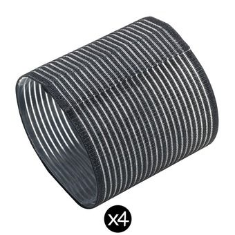 Pack de 4 bandas de sujeción para aparato inalámbrico negro