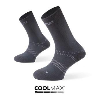 Calcetines de pares de calcetines DOUBLES gris