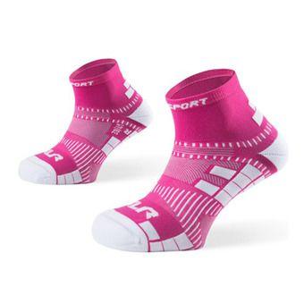 Socquettes de running femme XLR rose
