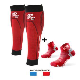 Medias de compresión BOOSTER ELITE rojo + Calcetines LIGHT ONE rojo