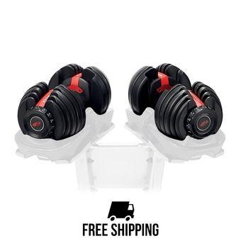 Paire d'haltères réglables 2 à 24 kg 552i noir/rouge
