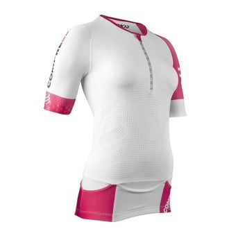 Maillot de compression MC femme AERO TOP blanc