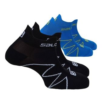 Pack de 2 pares de calcetines XA SONIC black/union blue