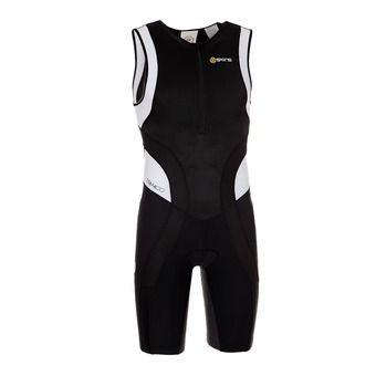 Traje de triatlón hombre TRI400 black/white