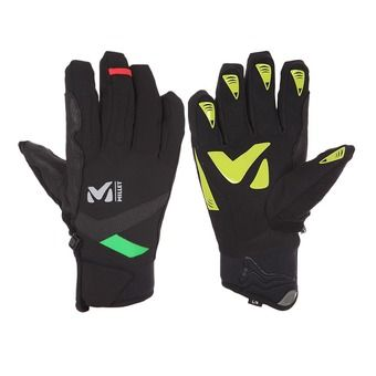 Guantes TOURING TRAINING black/acid green