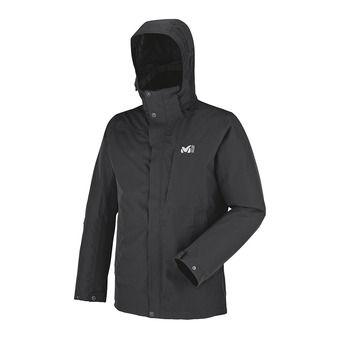 Veste à capuche homme LOFOTEN black/heather grey