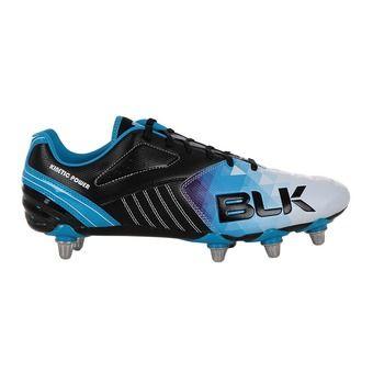 Chaussures rugby homme X8 HYPNOTIZE noir/cyan/blanc