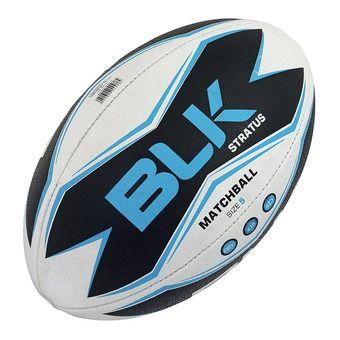 Balón de rugby STRATUS blanco/negro/azul T.5