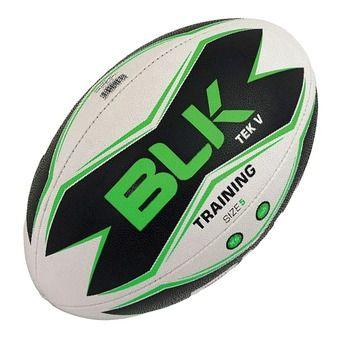 Balón de rugby TECK V blanco/negro/verde T.5