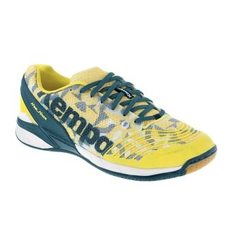 Chaussures handball homme ATTACK ONE jaune/pétrole/blanc