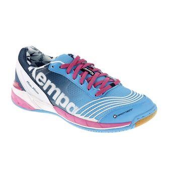 Chaussures handball femme ATTACK TWO bleu/pétrole/magenta