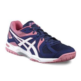 Chaussures badminton femme GEL HUNTER 3 indigo blue/white/azalea pink