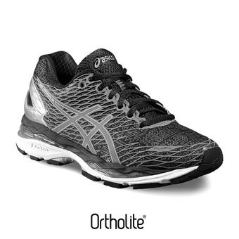 Chaussures running femme GEL NIMBUS 18 LITE-SHOW black/silver/shark