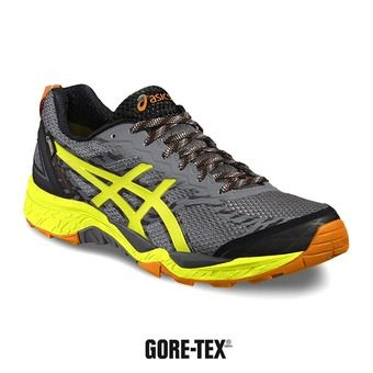 Zapatillas trail hombre GEL-FUJITRABUCO 5 GTX shark/safety yellow/black