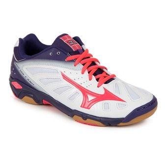 Chaussures handball femme WAVE VOLCANO white/divapink/mulpurple