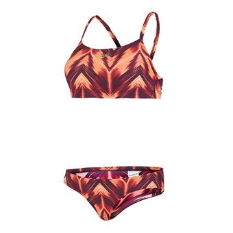 Maillot 2 pièces femme MOTIONWAVE ALLOVER oxid grey/psycho red/magenta