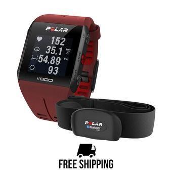 Montre GPS V800 HR rouge