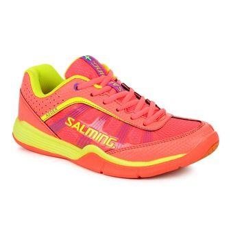 Zapatillas indoor balonmano mujer ADDER rosa/amarillo